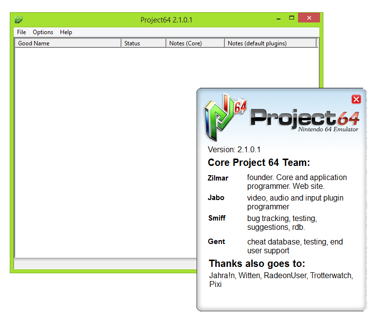 Project64 on windows