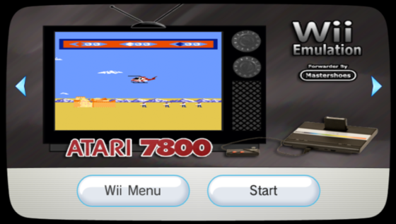 Wii7800 0.3 for Atari 7800 ProSystem on Wii